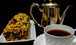 Cake au Matcha et Pistaches
