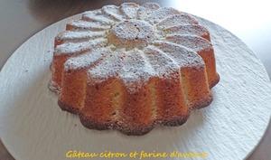 Gâteau citron et farine d'avoine