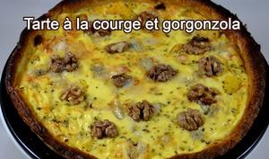 Tarte à la courge et gorgonzola