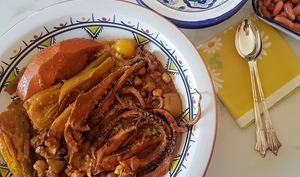 Couscous au poulpe fenouil et potiron