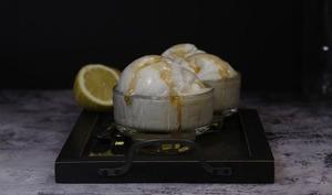 Oeufs à la neige au caramel de citron