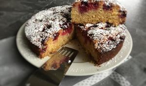 Gâteau moelleux framboises noix de coco