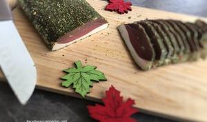 Magret de canard séché persillé fait maison recette facile