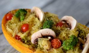 Poêlée de courge spaghetti et brocolis