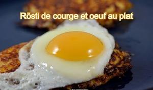 Rösti de courge et œuf au plat