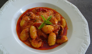 Gnocchi en sauce tomate et 'nduja