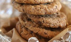 Cookies chocolat noir et éclats d'amandes