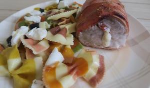 Filet mignon de porc farci à l'italienne