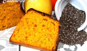Cake healthy potimarron-chia-citron