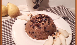 Bowl cake aux flocons d'avoine poire et praliné