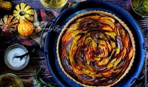 Tarte courge butternut et oignons caramélisés