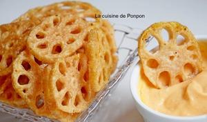 Chips de racine de lotus