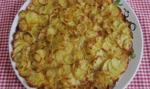 Tarte de rondelles de pommes de terre au parmesan