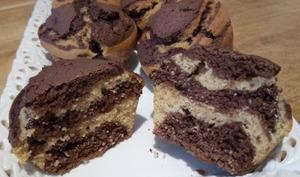 Les petits gâteaux marbrés chocolat vanille
