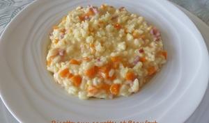 Risotto aux carottes et Beaufort
