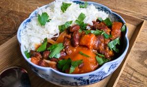 Curry de haricots rouges et courge