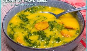 Velouté de patate douce au chou kale