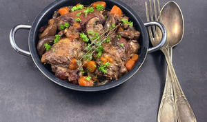 Coq au vin en version express
