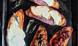 Crostiniavec base de patate douce