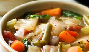 Soupe aux choux et légumes au cookeo