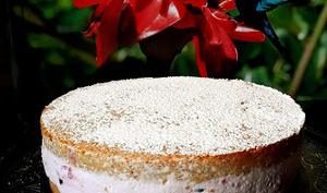 Gâteau à la ricotta aux poires ou framboises