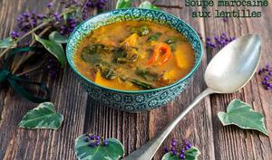 Soupe marocaine aux lentilles