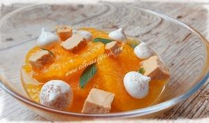 Salade d'Oranges au Turrón et Meringuettes