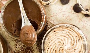 Crème chocolat noir et sa chantilly carambar