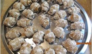Mini croissants sablés aux loukoums