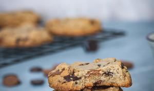 Cookies chocolat, caramel et noix