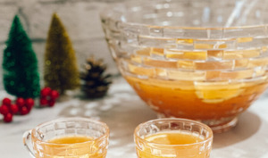 Punch de Noël au whisky et à l'érable