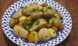 Fenouil carottes pommes de terre à la charmoula au vinaigre