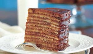 Layer cake au chocolat et vanille