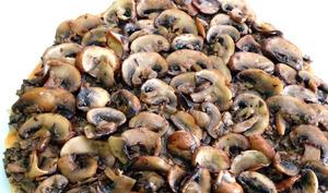 Tarte feuilletée aux champignons de Paris