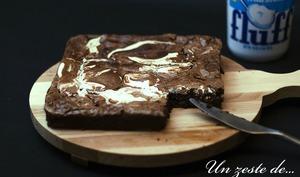 Brownie chocolat au fluff