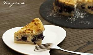Gâteau magique à la myrtille