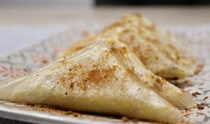 Samoussas épicés au parmesan