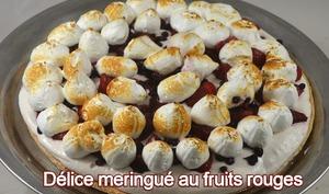Délice meringué aux fruits rouges