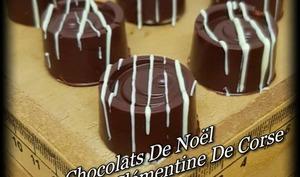 Chocolats de noël, fourrés à la clémentine de Corse