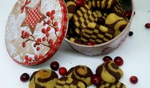 Damiers pistache-chocolat