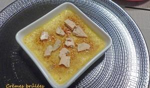 Crèmes brûlées au foie gras et aux figues