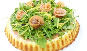 Tarte salade au saumon fumé et à la ricotta