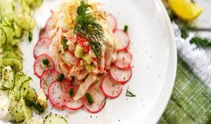 Tartare de crabe et légumes