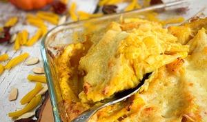 Gratin de pâtes au potiron façon mac and cheese | Cuisinez zen et Sans gluten