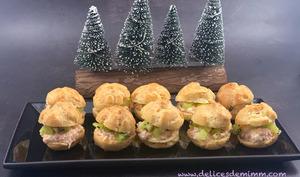 Petits choux au crabe-kiwi pour l'apéro