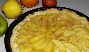 Tarte aux pommes et à l'orange curd