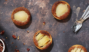Tartelettes aux poires et à la noix de pécan