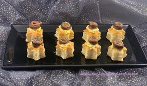 Étoiles feuilletées mimosa anchois