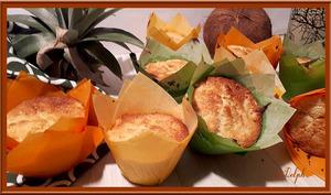 Muffins noix de coco et ananas