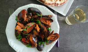 Curry de moules et crevettes